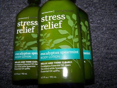 Lot Of 3 Bath Body Works Aromatherapy Stress Relief Eucalyptus