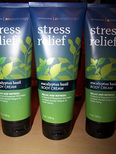 Lot Of 3 Bath Body Works Aromatherrapy Stress Relief Eucalyptus